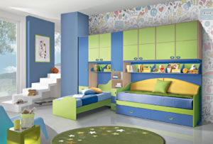 Per i tuoi ragazzi che hanno bisogno di uno spazio per studiare e giocare, ecco la nostra soluzione: una cameretta a ponte colorata tutta da vivere. Bronze 04: Mondo Camerette
