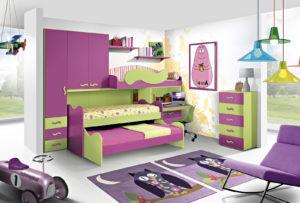 Una cameretta a soppalco dai colori vivaci per le tue bambine: scopri la nostra proposta d'arredo dai colori rosa e verde. Bronze 05: Mondo Camerette