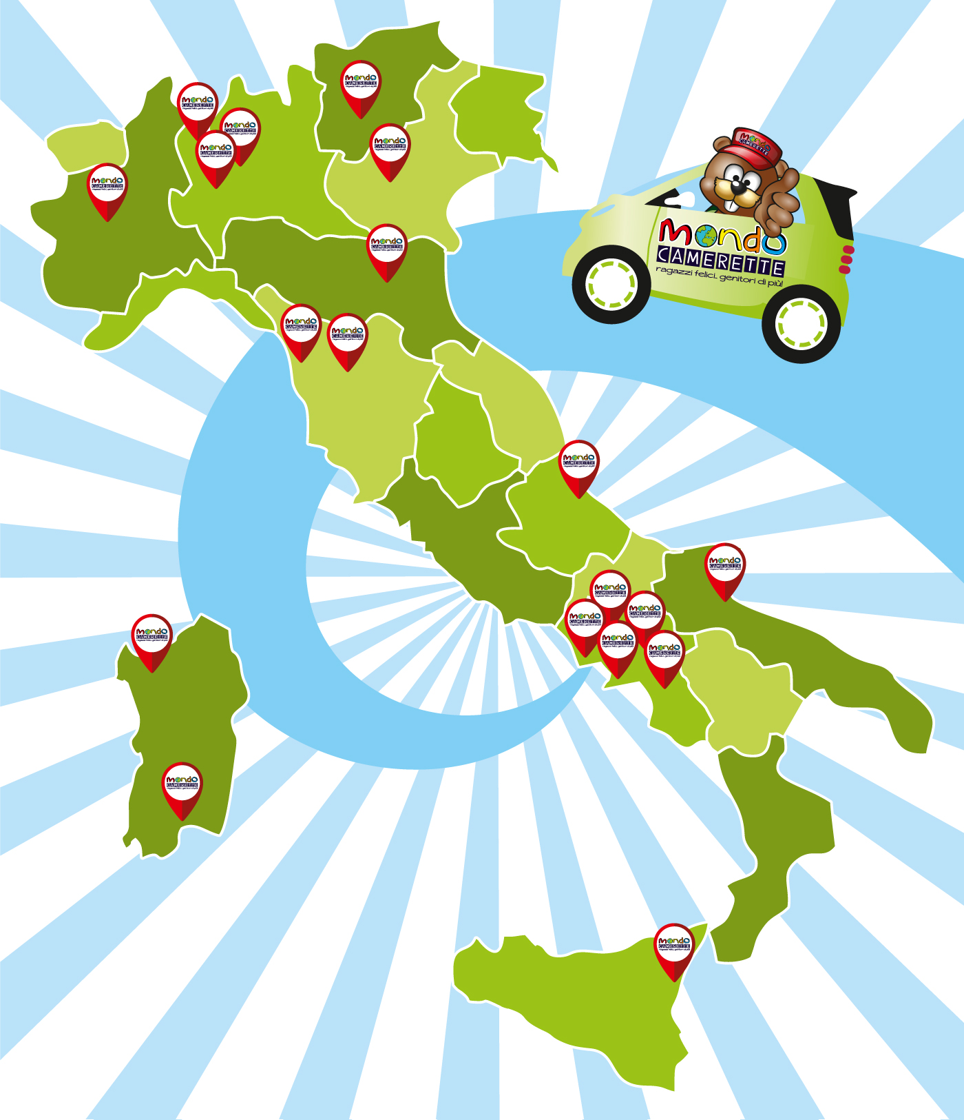 20 punti vendita in Italia